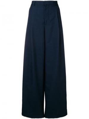High-waisted trousers Aspesi. Цвет: синий