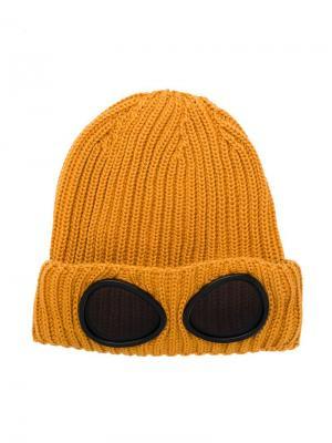 Lenses appliqués knitted beanie Cp Company Kids. Цвет: желтый