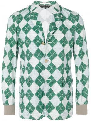 Пиджак с узором Comme Des Garçons Pre-Owned. Цвет: разноцветный
