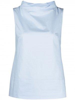 Блузка без рукавов Antonelli. Цвет: синий