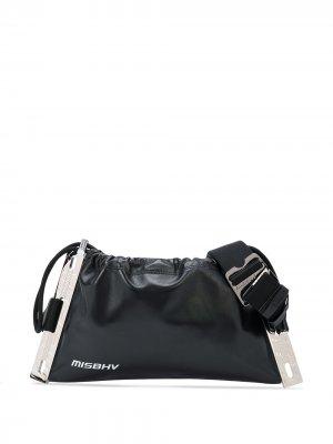 Поясная сумка с логотипом MISBHV. Цвет: черный