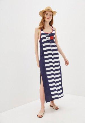 Платье пляжное Tommy Hilfiger. Цвет: синий