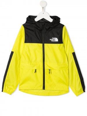 Куртка в стиле колор-блок с капюшоном The North Face Kids. Цвет: желтый