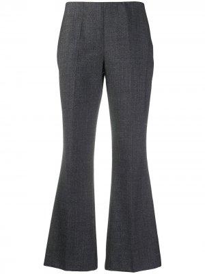Расклешенные брюки средней посадки P.A.R.O.S.H.. Цвет: серый