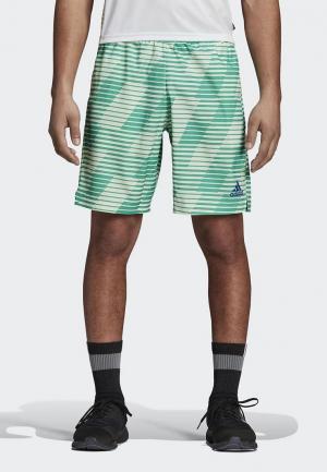 Шорты спортивные adidas. Цвет: зеленый