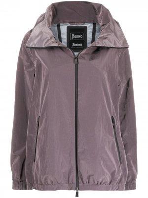 Куртка на молнии с капюшоном Herno. Цвет: фиолетовый
