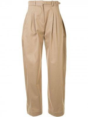 Широкие брюки с завышенной талией Ports 1961. Цвет: коричневый