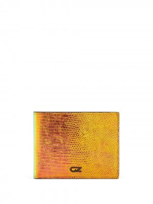 Бумажник с переливчатым эффектом Giuseppe Zanotti. Цвет: оранжевый