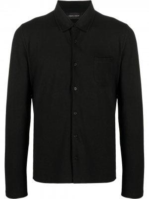 Рубашка из джерси Roberto Collina. Цвет: черный