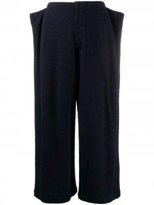 Укороченные брюки 1990-х годов с клапанами Comme Des Garçons Pre-Owned. Цвет: синий