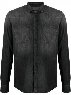 Джинсовая рубашка с эффектом потертости Dondup. Цвет: серый