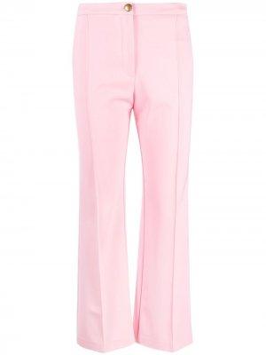 Укороченные расклешенные брюки Pinko. Цвет: розовый