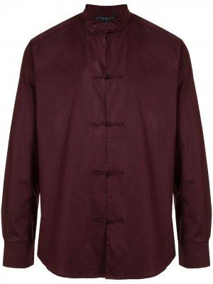 Рубашка с закругленным подолом Shanghai Tang. Цвет: фиолетовый