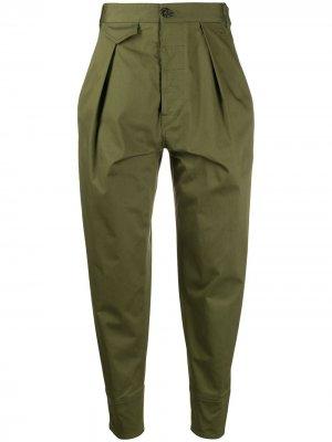 Зауженные брюки с завышенной талией Dsquared2. Цвет: зеленый