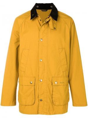 Куртка Bedale с контрастным воротником Barbour. Цвет: желтый